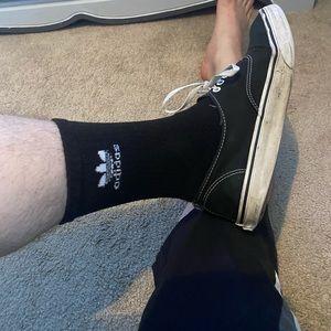 Men black adidas socks